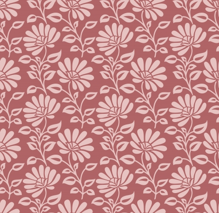 Seamless designer floral pattern Vector