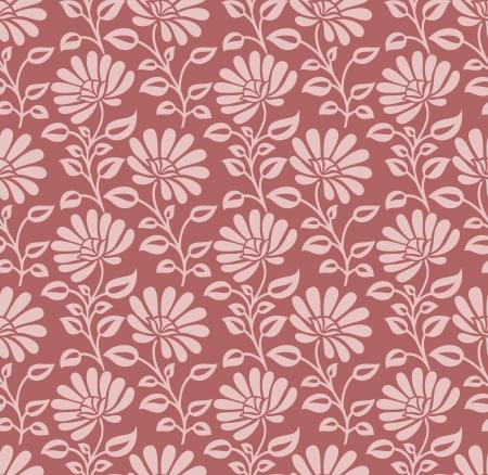 mustered: Seamless designer floral pattern