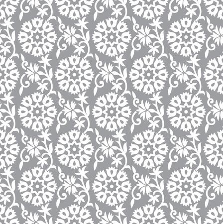 シームレスな銀の花の背景  イラスト・ベクター素材