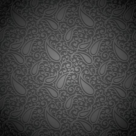Seamless royal paisley wallpaper Illustration