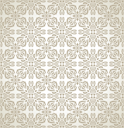 Seamless traditional floral wallpaper Stock Vector - 20074702