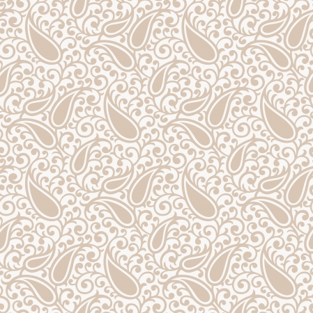 Traditional seamless paisley background Vector