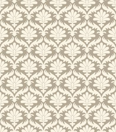 vector wallpaper: Seamless damask vector wallpaper Illustration