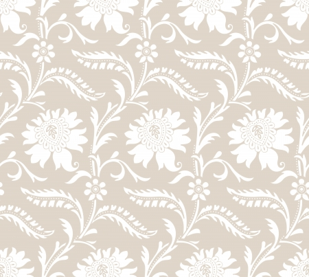 Seamless fancy floral pattern Stock Vector - 20074713