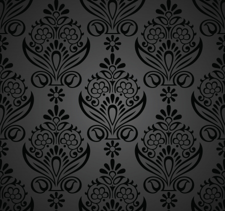 Floral seamless royal wallpaper Stock Vector - 20074711