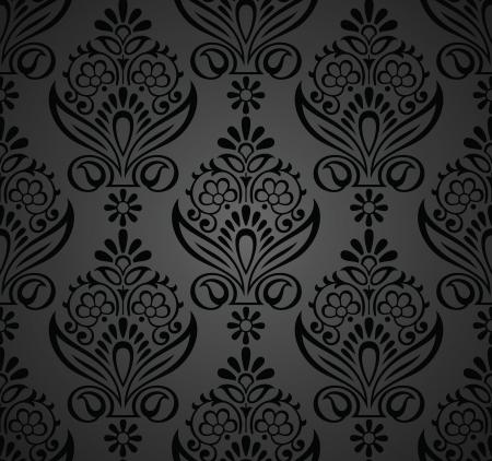 Floral seamless royal wallpaper Stock Vector - 20074711