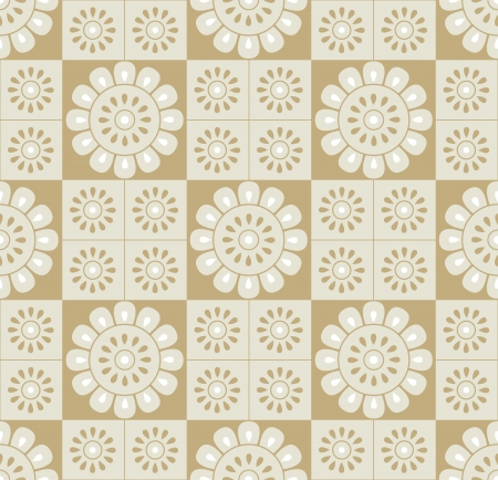mustered: Seamless golden floral background