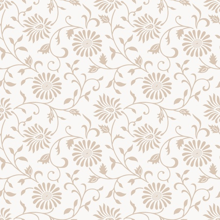 Floral seamless vector background Stock Vector - 20068578