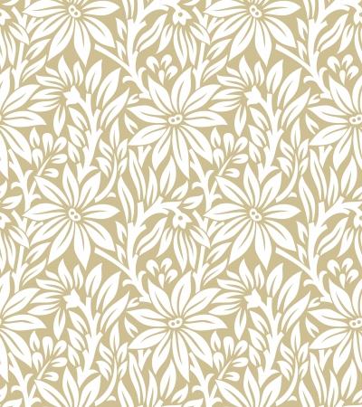Seamless golden floral pattern Vettoriali