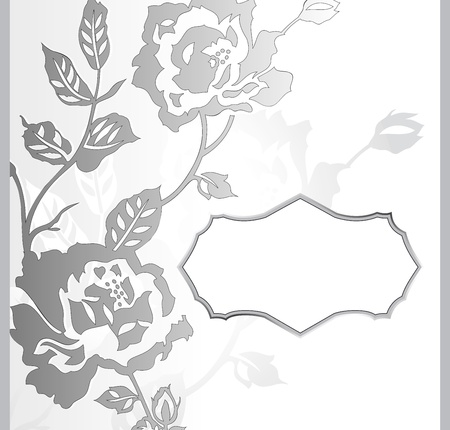 Abstract rose flower banner Vector