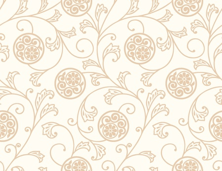 mustered: Seamless rich floral background Illustration
