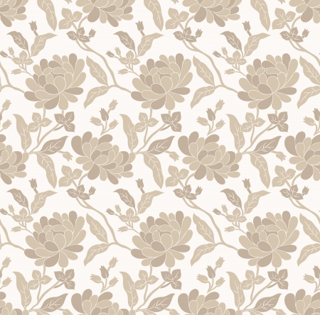 Seamless golden floral wallpaper Stock Vector - 20299014
