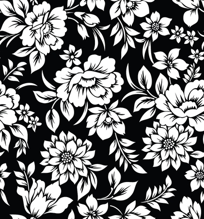 Decorative seamless floral wallpaper Illustration