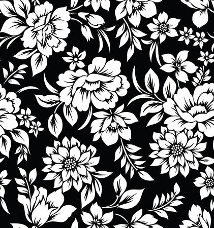 Decorative seamless floral wallpaper Vettoriali