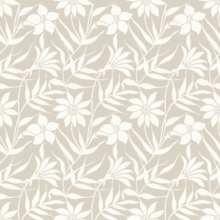 Floral seamless wedding card background Vector