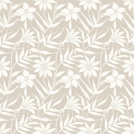 Floral seamless wedding card background Illustration