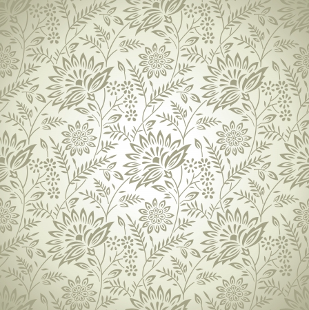 Seamless rich floral wallpaper Vector