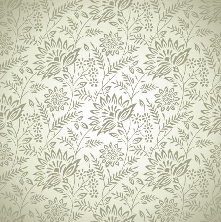 Seamless rich floral wallpaper Stock Vector - 20299048