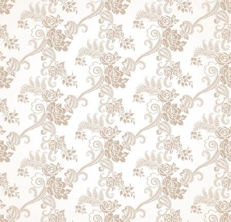 seamless golden floral wallpaper Vector