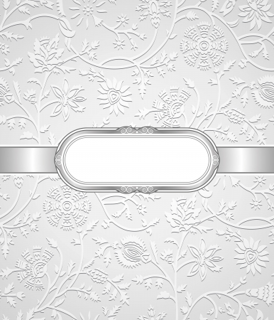 Silver note book cover and seamless background included Vector