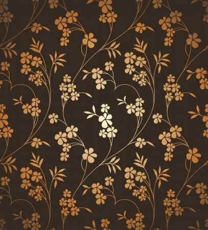 mustered: Seamless ornamental floral background