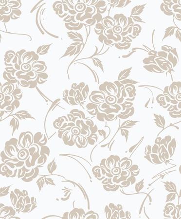 Seamless designer floral wallpaper Stock Vector - 20419598