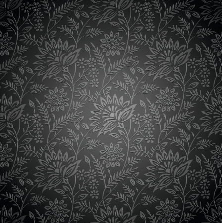 Seamless royal floral wallpaper Stock Vector - 20419604