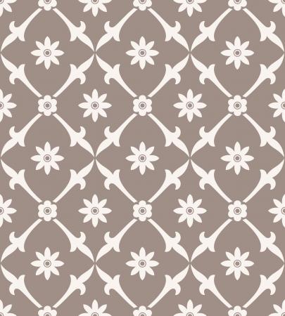 mustered: Seamless royal flower wallpaper
