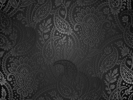 Seamless real paisley wallpaper Foto de archivo - 20481316