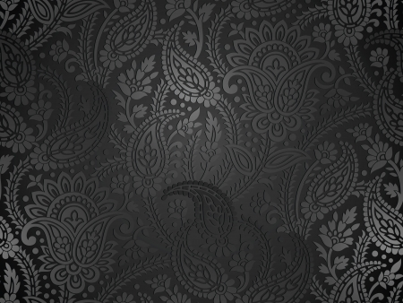 Seamless royal paisley wallpaper Çizim