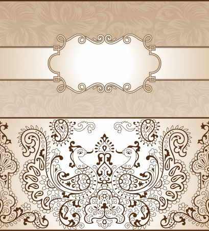 Traditional invitation card Vector