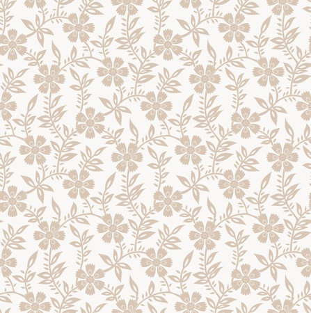 Seamless floral invitation card background Vector