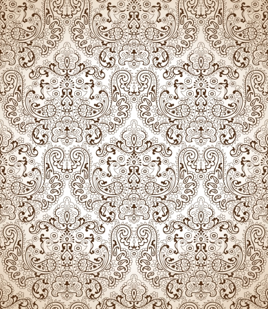 mustered: Seamless traditional peacock wallpaper