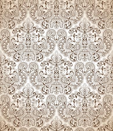 mustered: Seamless wallpaper pavo tradicional
