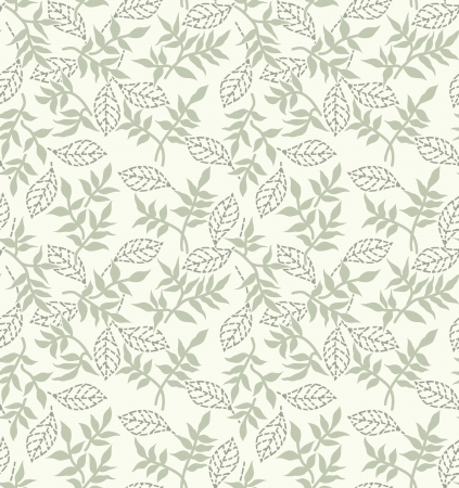 Silver seamless traditional floral wallpaper Stock Vector - 20634530