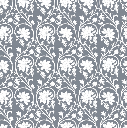 Seamless damask wallpaper Stock Vector - 20634535