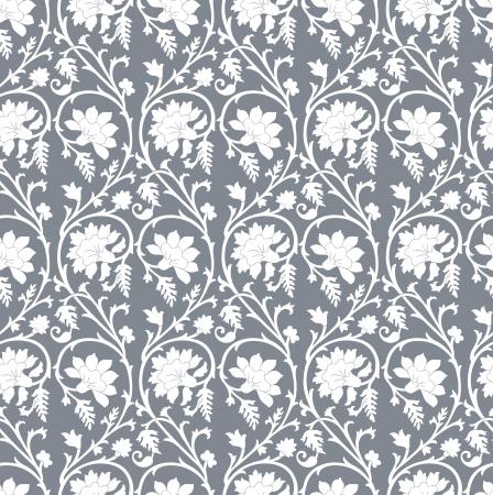 Seamless damask wallpaper Stock Vector - 20634535