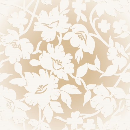 Seamless golden floral background Stock Vector - 20634538