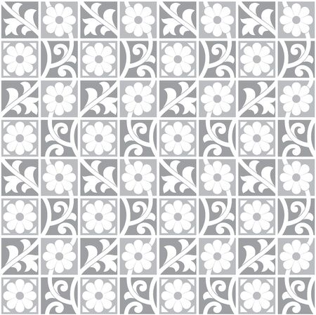 Seamless royal silver wallpaper