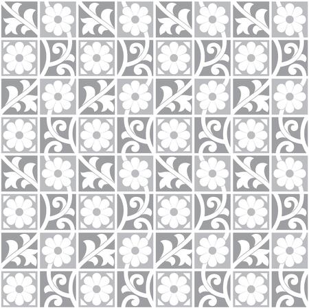 Seamless royal silver wallpaper Vector