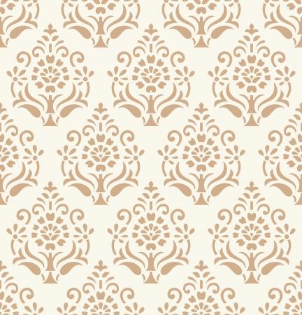 Seamless golden damask wallpaper Stock Vector - 20874298