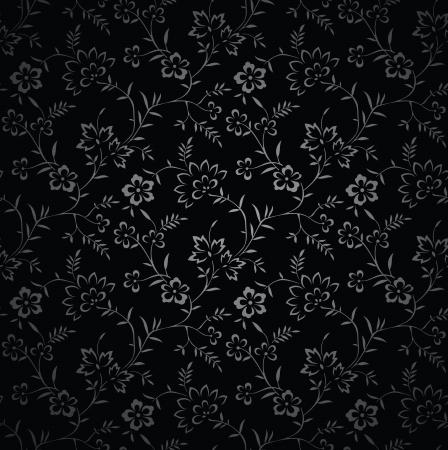 vector wallpaper: Seamless royal black vector wallpaper