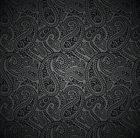 Seamless traditional paisley vector wallpaper