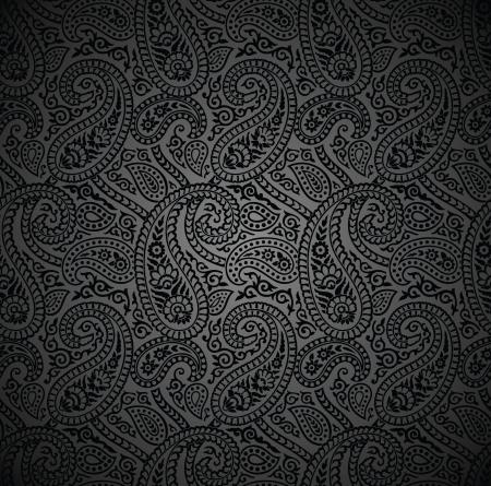 Seamless traditional paisley vector wallpaper