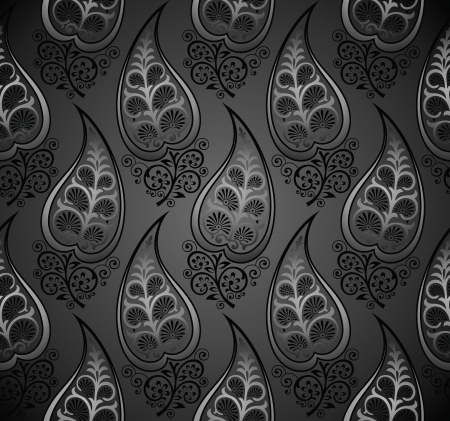 Seamless royal vector wallpaper of decorative leaves Vector