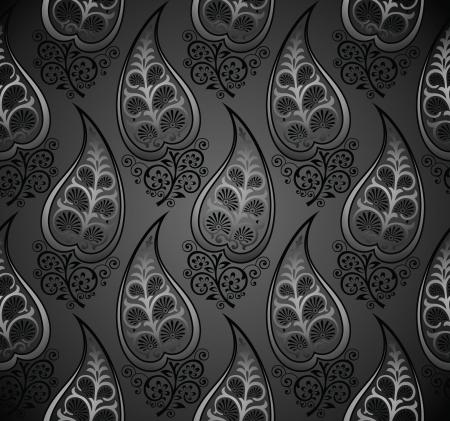 vector wallpaper: Seamless royal vector wallpaper of decorative leaves