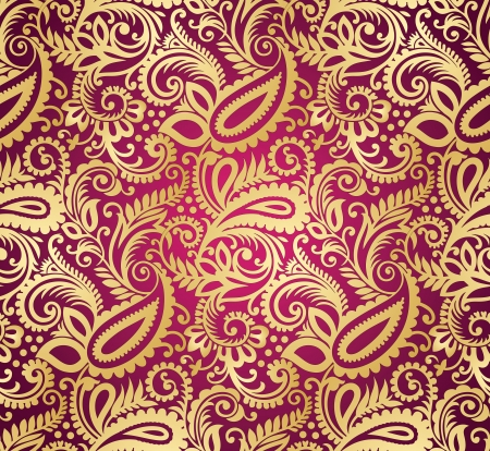 Paisley seamless wallpaper Vector