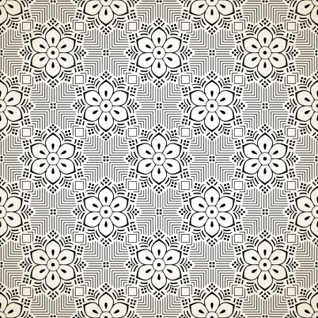 mustered: Seamless fancy vector floral wallpaper
