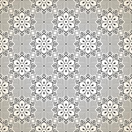 Seamless fancy vector floral wallpaper Stock Vector - 20995664