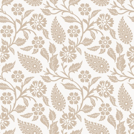 vector wallpaper: Seamless vector flower wallpaper and background